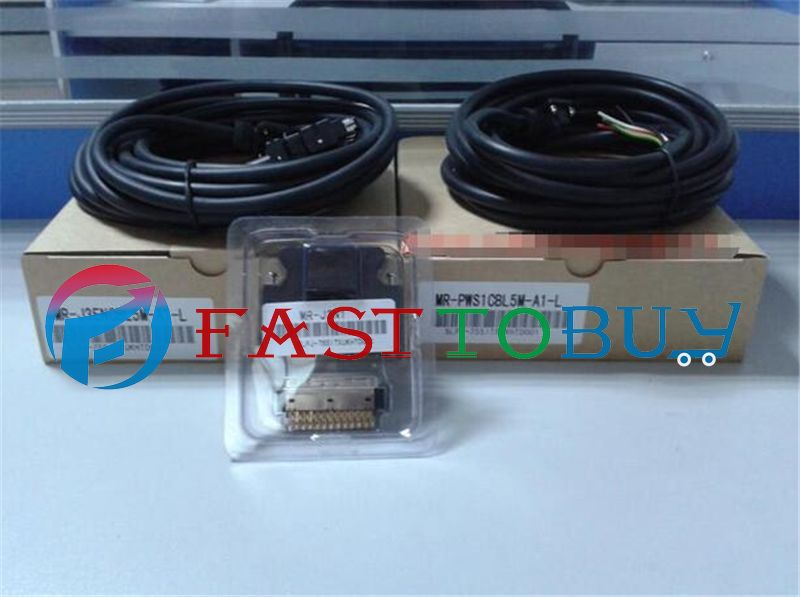 3 in 1 MR-J3CN1+MR-J3ENCBL5M-A1-L+MR-PWS1CBL5M-A1-L for Mitsubishi Servo Connector+5M Encoder /Power Cable One Year Warranty dhl ems san yo servo motor q1aa04010dxs1s good in condition for industry use a1