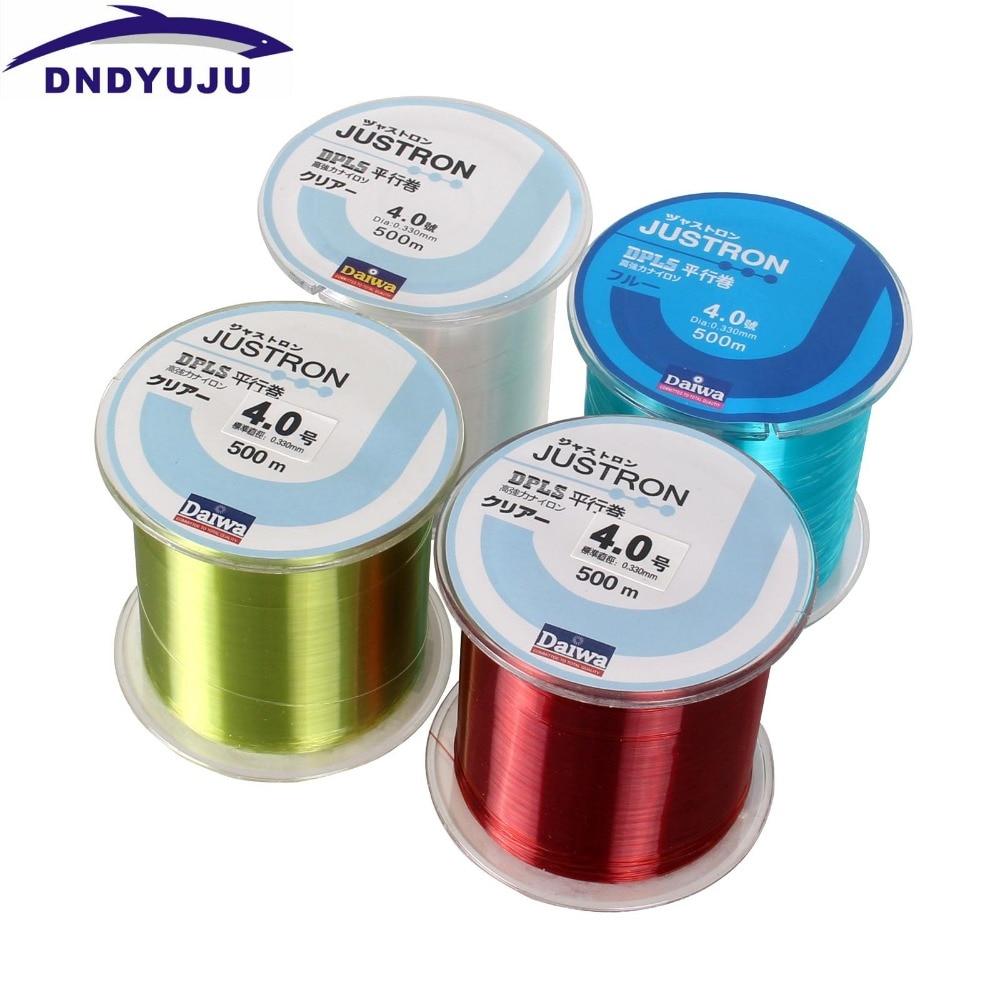 DNDYUJU 500M High Quality Nylon Fishing Line Available Nylon Fishing Leader Lines Nylon Fishing Lines 0.10mm--0.50mm Ta