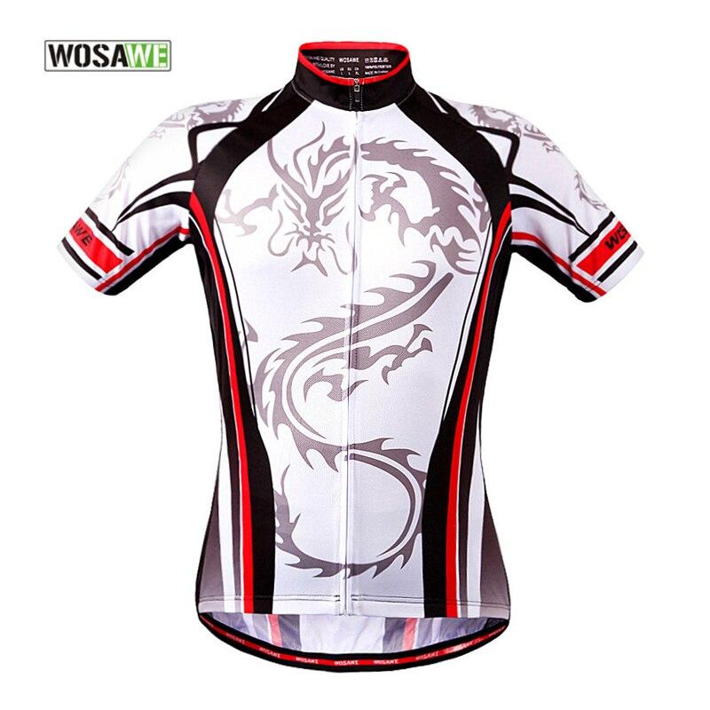 WOSAWE Men Cycling Jerseys Short Shirt Maillot Bike Zipper T Shirt Maillot Quick Step Mtb Jersey Ciclismo Cycling Clothing cycling clothing maillot bike jersey ciclismo - title=