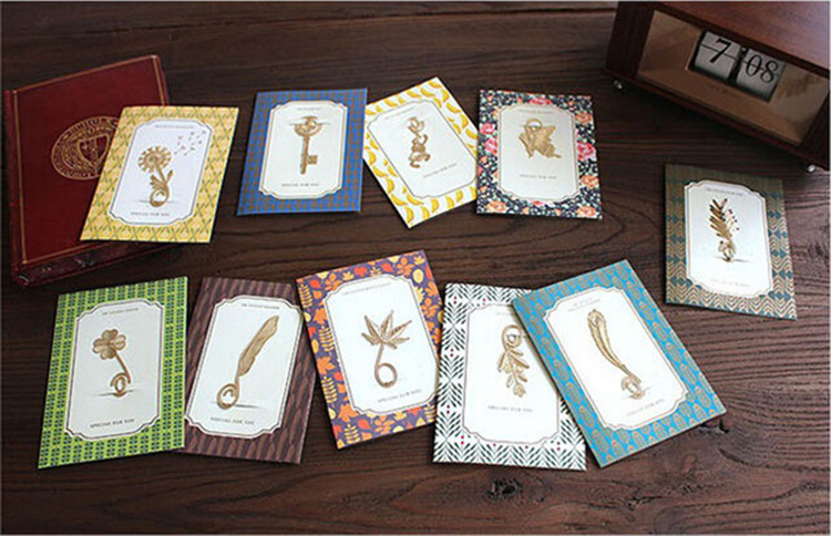 500pcs New Creative Metal Book Marker 18k Gold Plated Clips Bookmark Card Clips Stationay-Xmas Gift