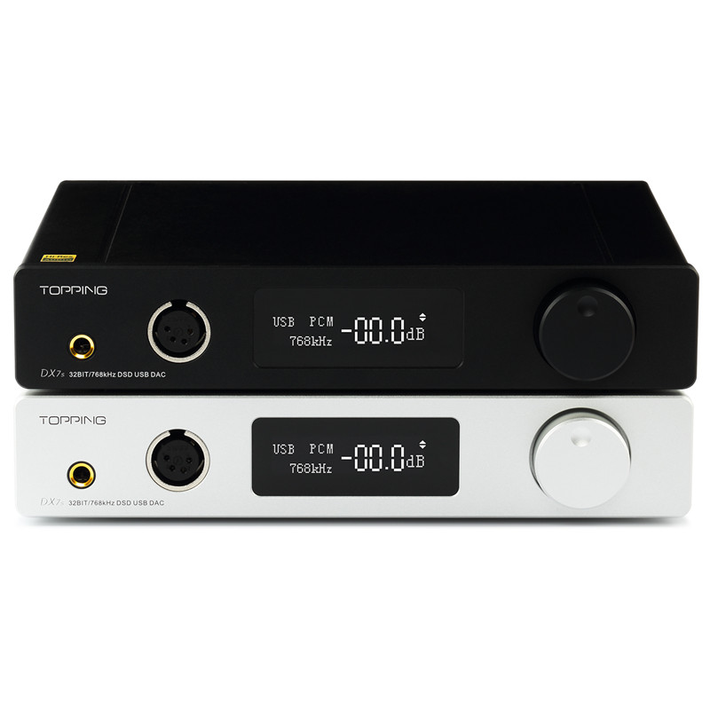 TOPPING DX7s Full Balanced DAC & Headphone Amplifier Decoder Support 32BIT/768k DSD512 native 1000mW*2@32ohm ds1302 32 768k 32 768khz 6pf 5ppm