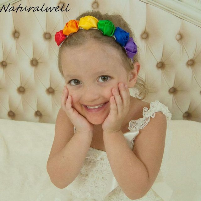Naturalwell Baby Original Rainbow Crown Rainbow Headband Colorful Headbands  girls Hairband Toddler Child Photography Prop HB547 03ec24369f4