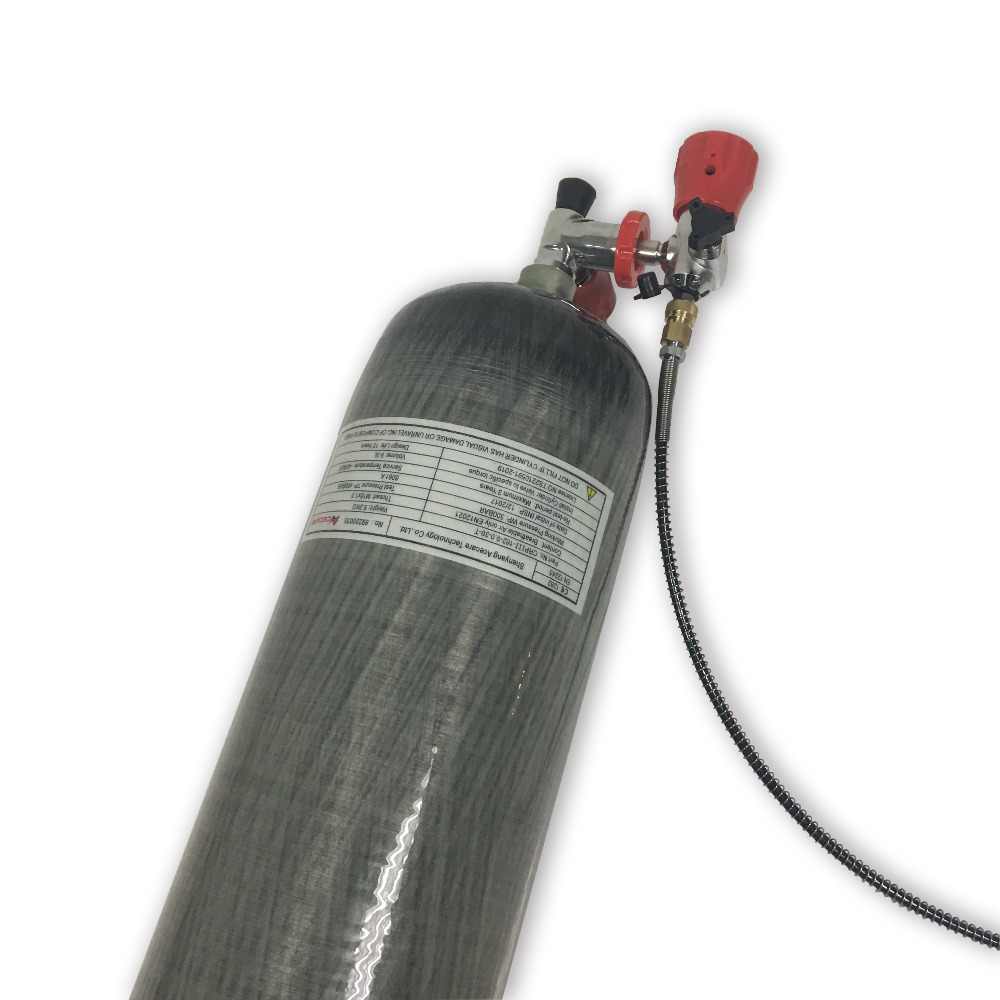 AC10912019 9L 30Mpa Carbon Fiber Gas Cylinder Paintball Air Tank With Valve And Fill Station Cylinders For Diving  Drop Shipping