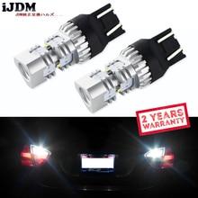 IJDM 6000K белый 7443 светодиодный лампы W21/5 W WY21W T20 luxin светодиодный светильник Canbus 12V для автомобиля, тормоза, заднего хода, стояночный DRL противотуманный светильник, Запасная лампа