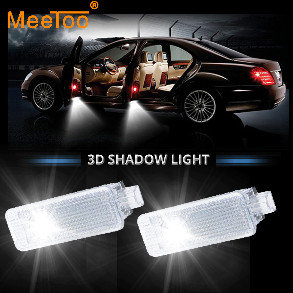 Meetoo 2pcs Led Car Door Welcome Light Projector Auto Led Voiture