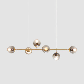 Nordic Glass Ball Chandelier Lighting Vintage Glass Bubble Hanging Light Modern Dinning room Chandelier Light Fixture