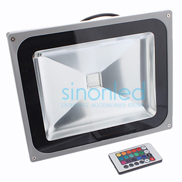 50W 110V 220V 240V High Power LED Flood Light Lamp Wash Waterproof Outdoor Outside Warm/Cool White/Red/Green/Blue/RGB & Remote