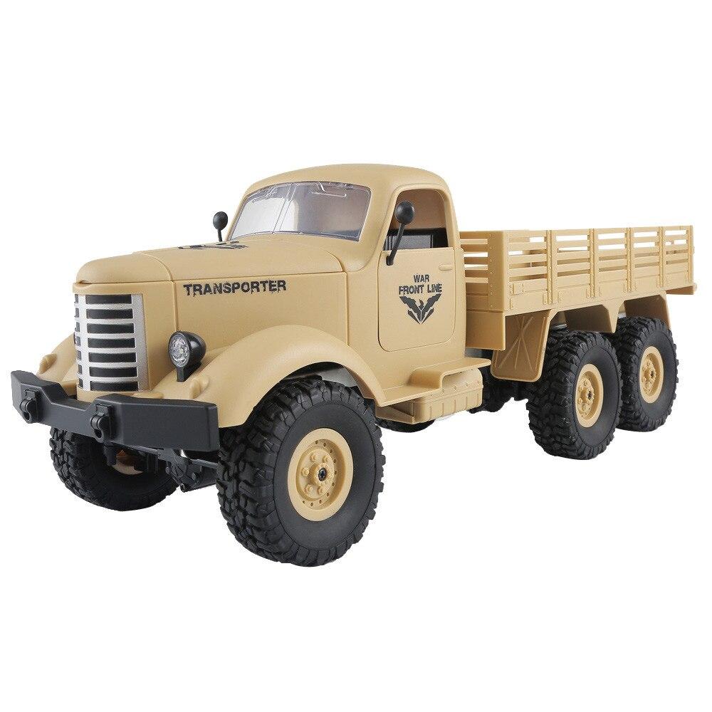 1/16 2.4G 6WD RC Remote Control Rock Crawler Off-Road Military Truck Toy #1/16 2.4G 6WD RC Remote Control Rock Crawler Off-Road Military Truck Toy #