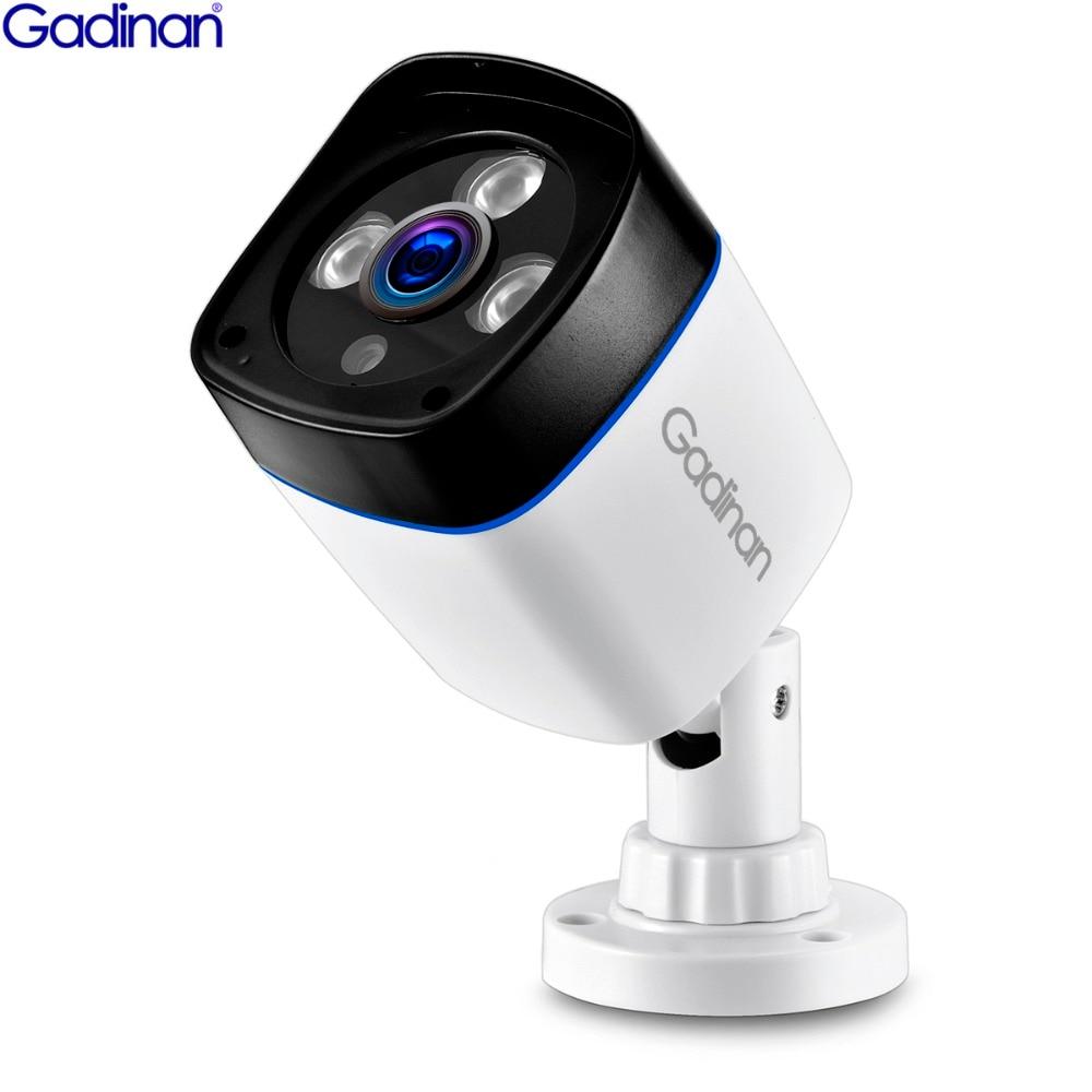 GADINAN H.265 3MP 1080P SONY IMX307 2304x1296 H.264 960P 720P Bala IP Câmera de Vigilância de Vídeo ao ar livre do CCTV IR ONVIF PoE 48V