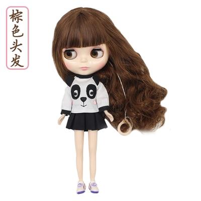 Фабрика Блит куклы каштановые волосы белой кожи нормального тела 30 см 1/6 BL9158