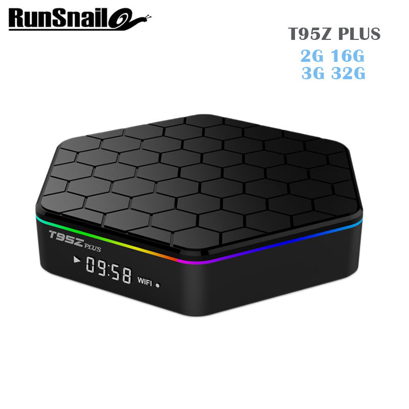 T95Z Plus 2GB 16GB 3GB 32GB Amlogic S912 Octa Core Smart TV BOX Android 7.1 2.4G/5GHz WiFi 1000M LAN BT4.0 4K Media player pk v1
