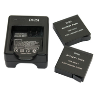 DVISI 2Pcs Lot 3 85V 1400mAh Li Ion Rechargeable Batteries With Dual USB Charger For Xiaomi