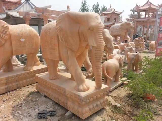 Joy Garden Beautiful Stone Elephant Statues