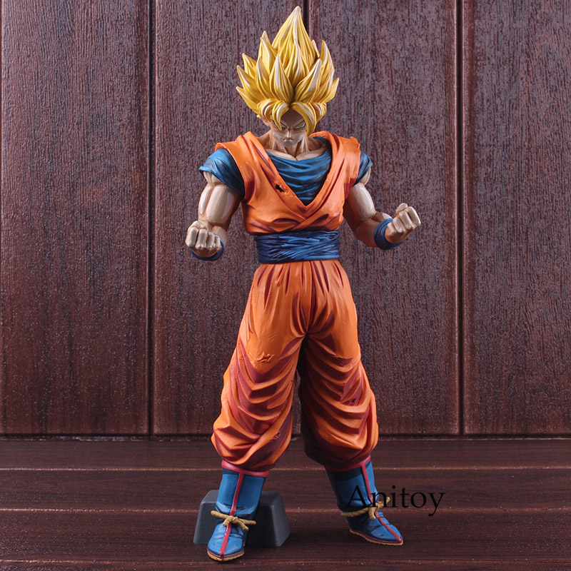 цена Dragon Ball Z Grandista Goku Super Saiyan Son Gokou Manga Dimensions PVC Dragon Ball Figure Action Collectible Model Toy 31cm