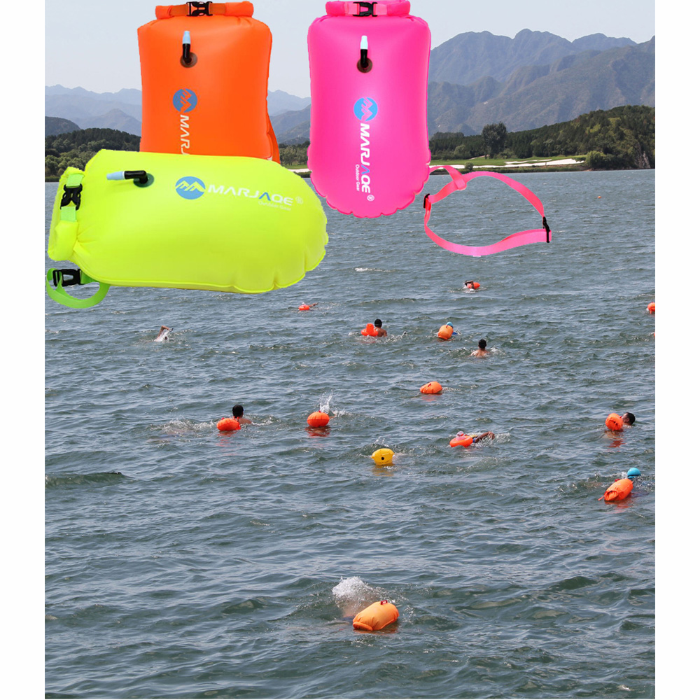 Big Size PVC Waterproof Swim Tow Float Swimming Buoy Safety Float Inflatable Flotation Air Bag