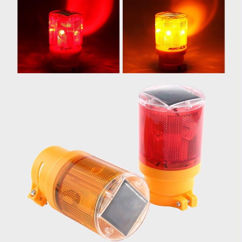 1Pcs Solar Warning 6 LED Light Blinker Flash Bulb Traffic Light Led For Construction Site Harbor Road Emergency Lighting