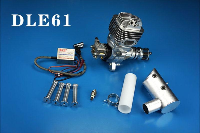 الأصلي جديد DLE DLE61 طائرة نموذجية نموذج محرك البنزين 61CC المحرك ل RC هليكوبتر/ثابتة الجناح هواية-في قطع غيار وملحقات من الألعاب والهوايات على  مجموعة 2