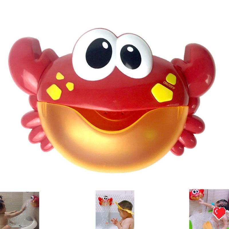 2018 di Vendita Caldo di Alta Qualità della Macchina Della Bolla Grande Granchio Automatico Bubble Maker Ventilatore Musica Vasca Da Bagno Giocattolo per il Bambino Outwearing