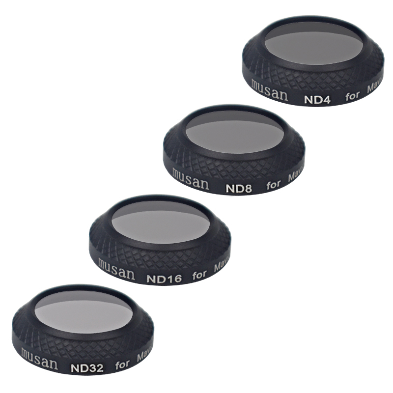4 Pieces ND4+ND8+ND16+ND32 Filter Kit For DJI Mavic Pro Drone Mavic Pro Accessories Multi Coated With Carrying Box