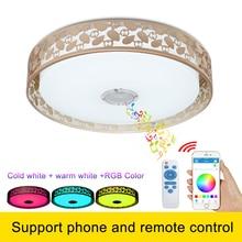 Rgb затемнения потолочный светильник с динамиком и управления для мобильных устройств купол потолка лампы для вечеринки или спальни
