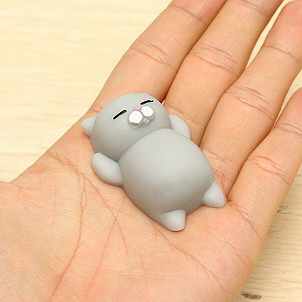 1 Pc Novelty Cute Animal Toys Antistress Toy Mini Squeeze Cat Soft Doll Relax Squeeze Stress Relief Toys Kids Adult Play Toy