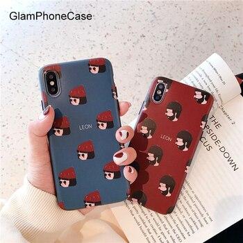 GlamPhoneCase Đơn Giản Phim Hoạt Hình Cậu Bé và Cô Gái Trường Hợp Điện Thoại Đối Với iPhone X XS Max XR Mềm TPU Bìa Đối Với iPhone 7 8 6 6 s Cộng Với Trường Hợp Coque