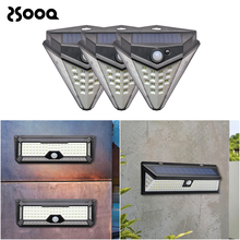 Outdoor LED Solar Light Rechargeable Motion Sensor Garden Light Emergency Stair Street Yard Lighting Wall Lamp Waterproof CLS123