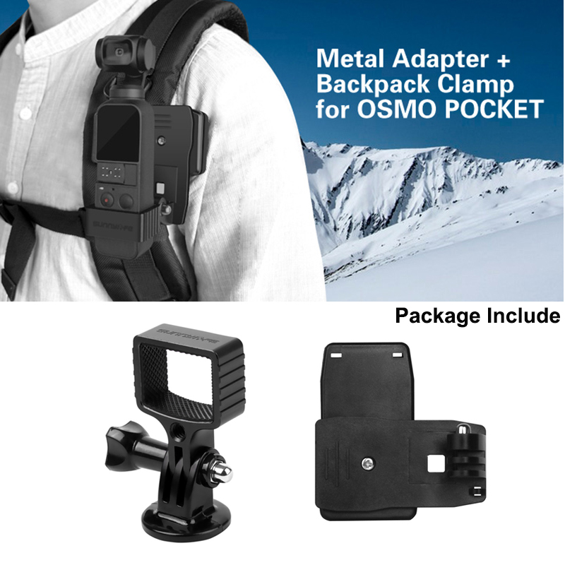 Backpack Clip Clamp Mount Holder For DJI OSMO Pocket Gimbal Accessories  NMES