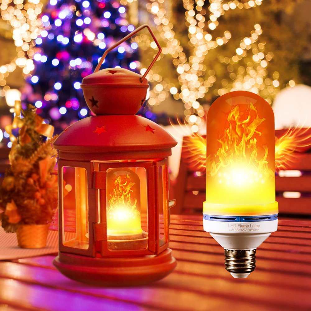 LED E27 E14 led Fame Effect Fire Light Bulbs B22 E26 E12 220V 110V 3 Modes SMD 2835 flickering flame fire led light bulb lamp 6W