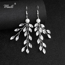 Miallo 2019 New Arrivals Handmade Wedding Drop Earrings Bridal Austrian Crystal Bride Bridesmaids Earrings for Women(China)