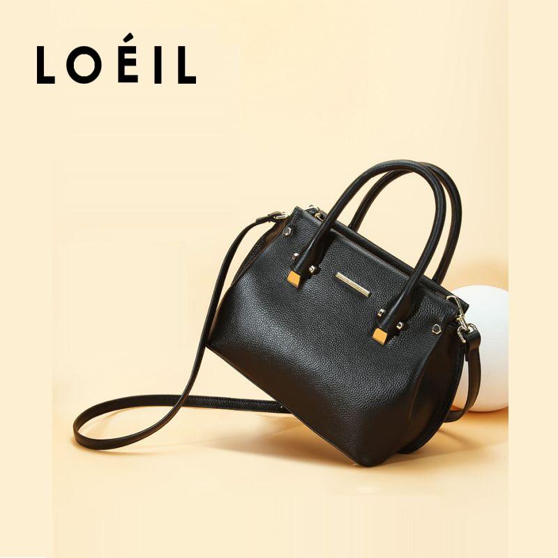 все цены на LOEIL 2018 spring and summer new handbag leather handbag first layer cowhide Europe and America bag shoulder diagonal package