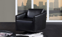 Single Sofa Chair Modern Deisgn And Made In 1st Layer Cattle Leather Solide Wood Frame Living