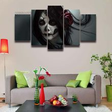 Printed Sugar Skull Woman Face Day of The Dead Picture Canvas Painting for  Wall Art Home Decor Living Room Print Artwork Poster 440eb0c777e0