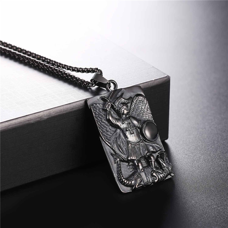 Collare st michael pendants men tags goldblack color jewelry collare st michael pendants men tags goldblack color jewelry stainless steel taxiarch archangel michael necklaces women p087 in chain necklaces from aloadofball Gallery