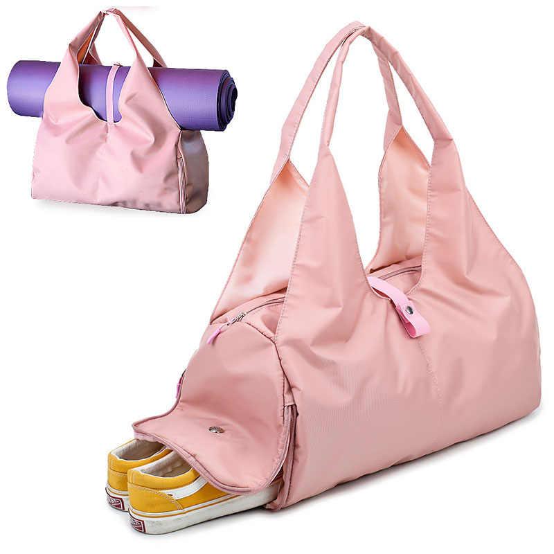 4d258a2ccd4e Scione Yoga Mat Bag Gym Fitness Bags for Women Men Training Sac De Sport  Travel Gymtas