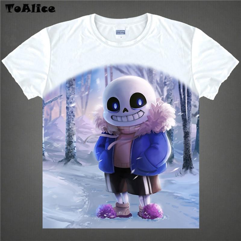 HOT Game Undertale T Shirt Skull Brother Sans Papyrus Printed T shirts T Shirt Short Sleeve