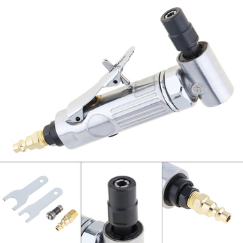 1/4 Inch & 1/8 Inch Collet Pneumatic Polished Machine with 90 Degree Curved Head and Push Switch for Small Area Grinding