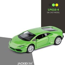 1:36 scale Huracan LP610 alloy car diecast metal model vehicles high simulation pull back car model kids toy free shipping(China)