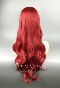 Image 5 - The Little Mermaid Wigs Body Wave Wavy Princess Ariel Cosplay Wig Heat Resistant Synthetic Hair Costume Wigs + Wig Cap
