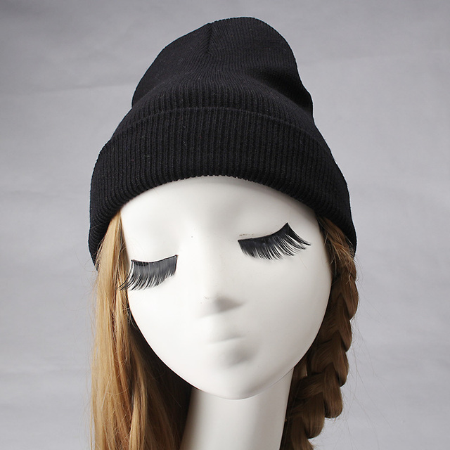 C Fashion Women s Winter Knitted Hats Fluorescent Color Beanies Hat  Skullies Gorros Casual Solid Colors Leisure 784f0f239c5