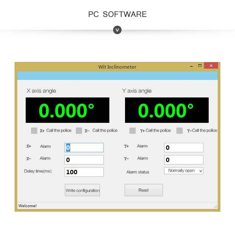 WitMotion SINRT 이중 축 고정밀 경보 릴레이 스위치 센서, 각도 측정 AHRS, IP67 방수, 방진