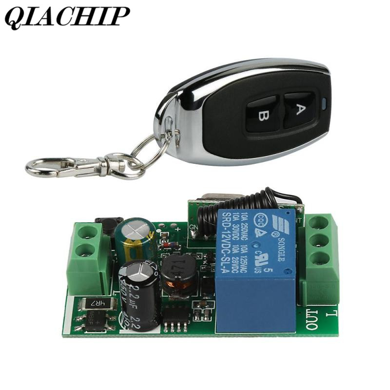 433MHz RF Transmitter Receiver Wireless Code Learning Code Switch Relay Remote Control Switch Buttons Smart Home Light DS35