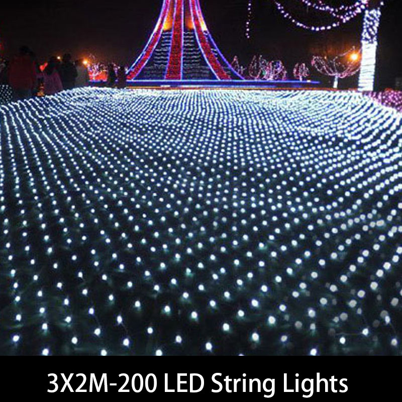 1 set & 3 M x 2 M 200 LED Lichtslingers Kerst xmas Fairy Lights - Vakantie verlichting - Foto 4