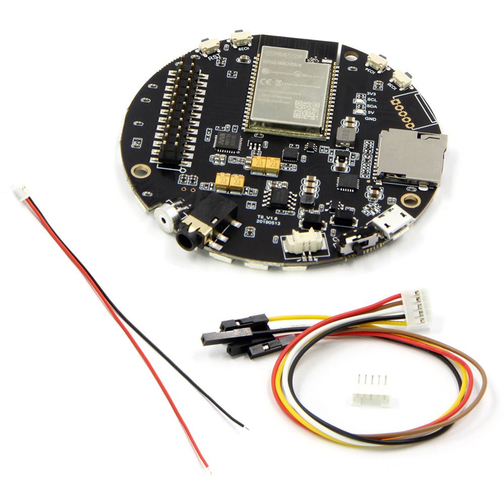 TTGO ESP32-WROVER TAudio V1 6 SD Card Slot Bluetooth WI-FI Module MPU9250  WM8978 12Bits WS2812B