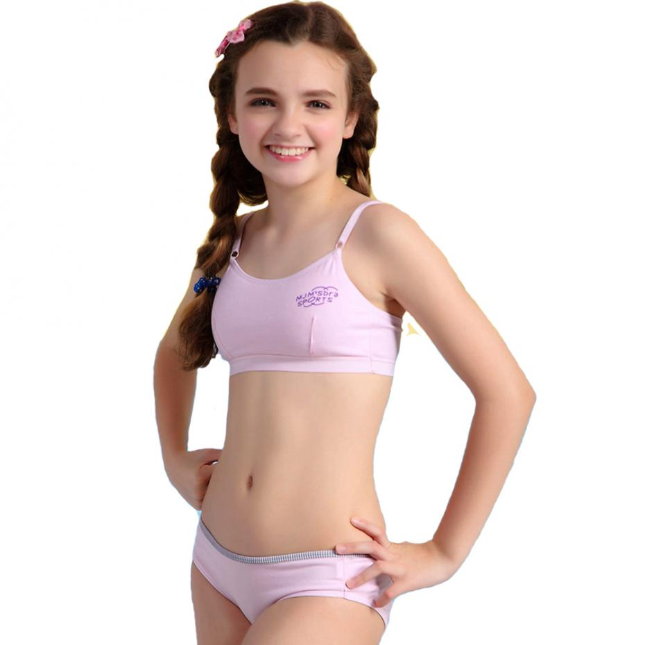 Wofee New Bra Set Padded Bras And Matching Briefs For Kids -9301