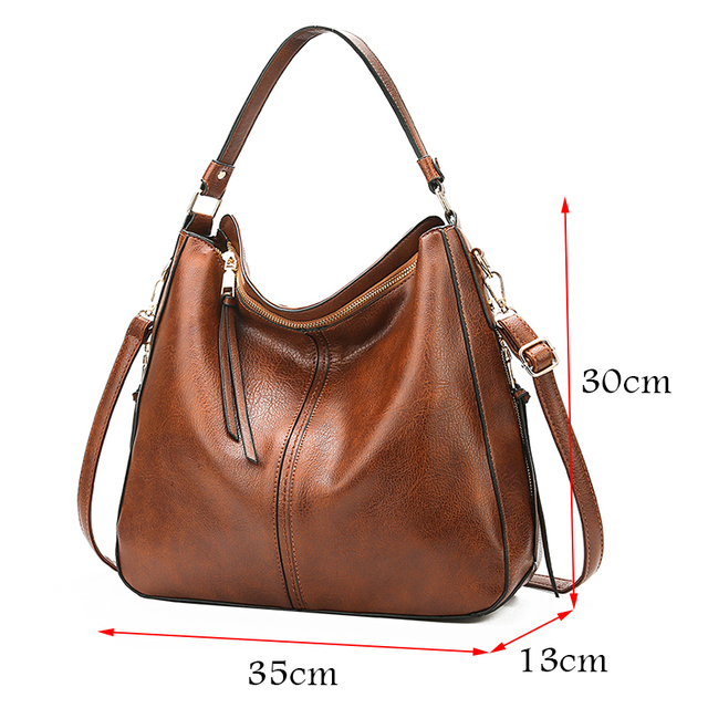 2018 vintage brown women leather handbags luxury designer shoulder bags high quality brand crossbody bags for women bolso mujer 2