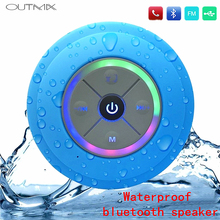 цены на OUTMIX Portable Subwoofer Shower Waterproof Wireless Bluetooth Speaker Car Handsfree Call Music Suction Mic For Android IPhone  в интернет-магазинах