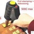 300 W Mini máquina de estampación en Caliente papel de la impresora, caliente máquina debossing para pastel, de madera, cuero + un envío del molde