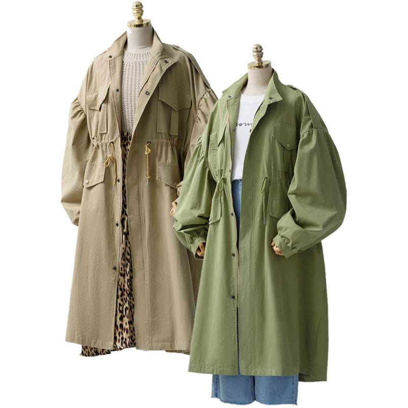 Trench   Coat European And American Style 2018 Autumn Winter Clothing New Large Size Loose Coat All-match Fashionable Wind Coat