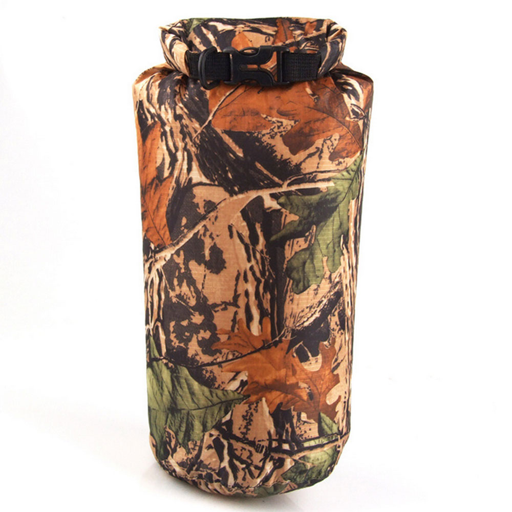 8L Portable 8L Camouflage Waterproof Bag Storage Dry Bag For Outdoor Canoe Kayak Rafting Camping Climbing Hike